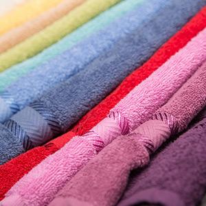 välj din favorit färg på handduken
