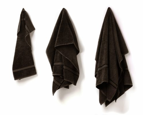svart badlakan handduk